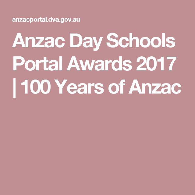Anzac Day Schools Portal  Awards 2017 | 100 Years of Anzac