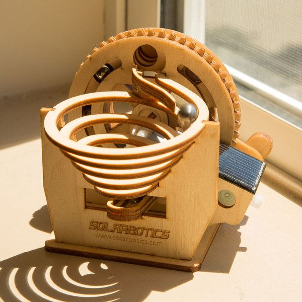 We've been staring at this mesmerizing solar-powered marble machine kit all morning…