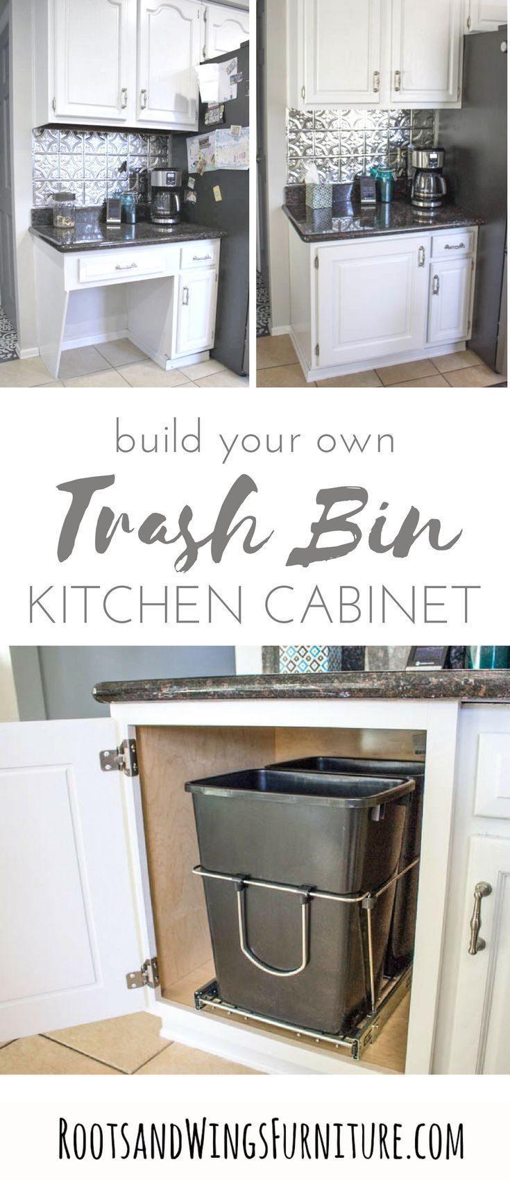When Function Meets Design Adding A Pull Out Trash Can Roots Wings Furniture Llc In 2020 Diy Kitchen Kitchen Desks Diy Kitchen Renovation