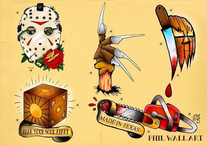 Horror Movie Tattoo Flash 1000+ ideas abo...