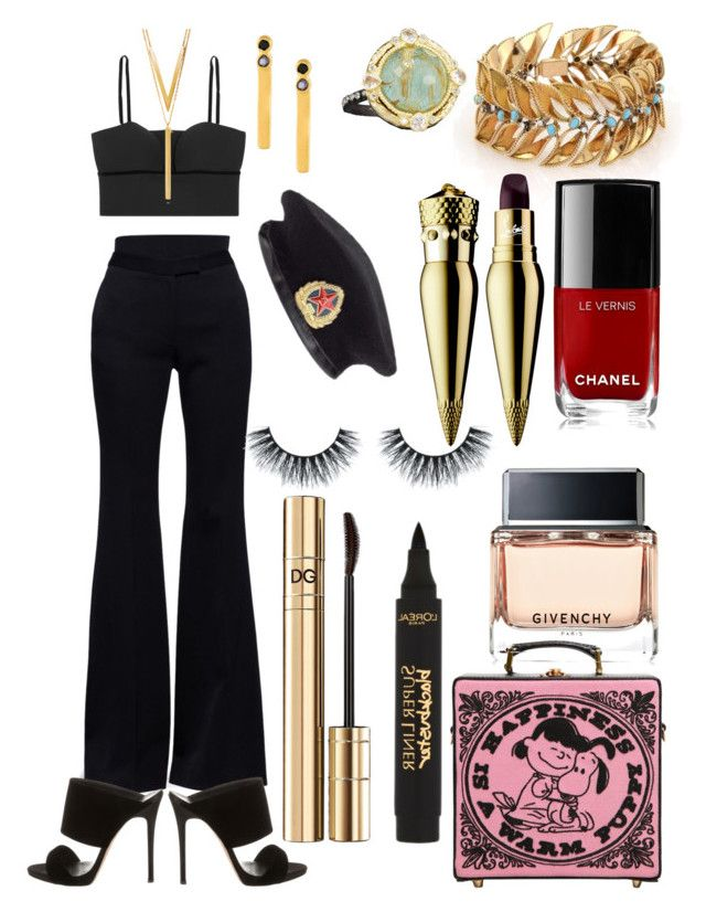 """My Friday"" by benniegal on Polyvore featuring Alexander McQueen, BERRICLE, L'Oréal Paris, Maya Magal, Olympia Le-Tan, Giuseppe Zanotti, Givenchy, Armenta, Dolce&Gabbana and Chanel"