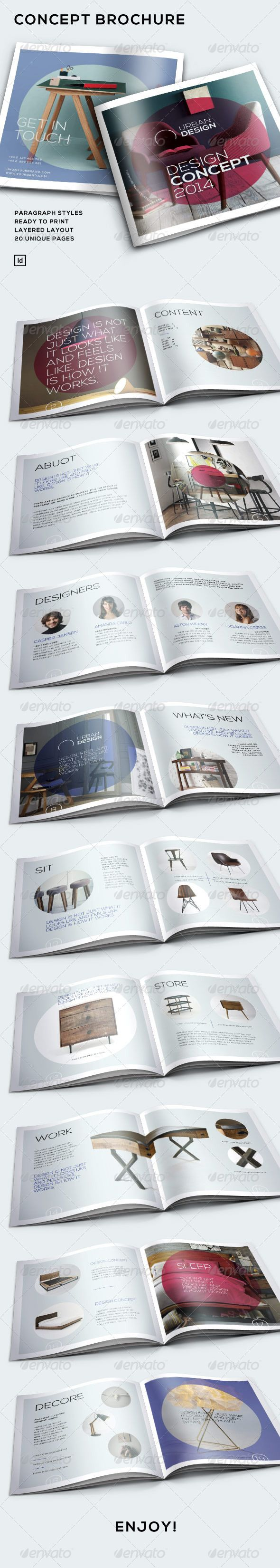 Concept Brochure — InDesign INDD #catalog #design • Available here → https://graphicriver.net/item/concept-brochure/7019996?ref=pxcr