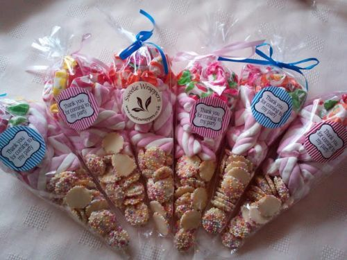 6-x-Pre-Filled-Sweet-Cones-Party-Bag-Favour-Wedding-Favour-Candy-Cart