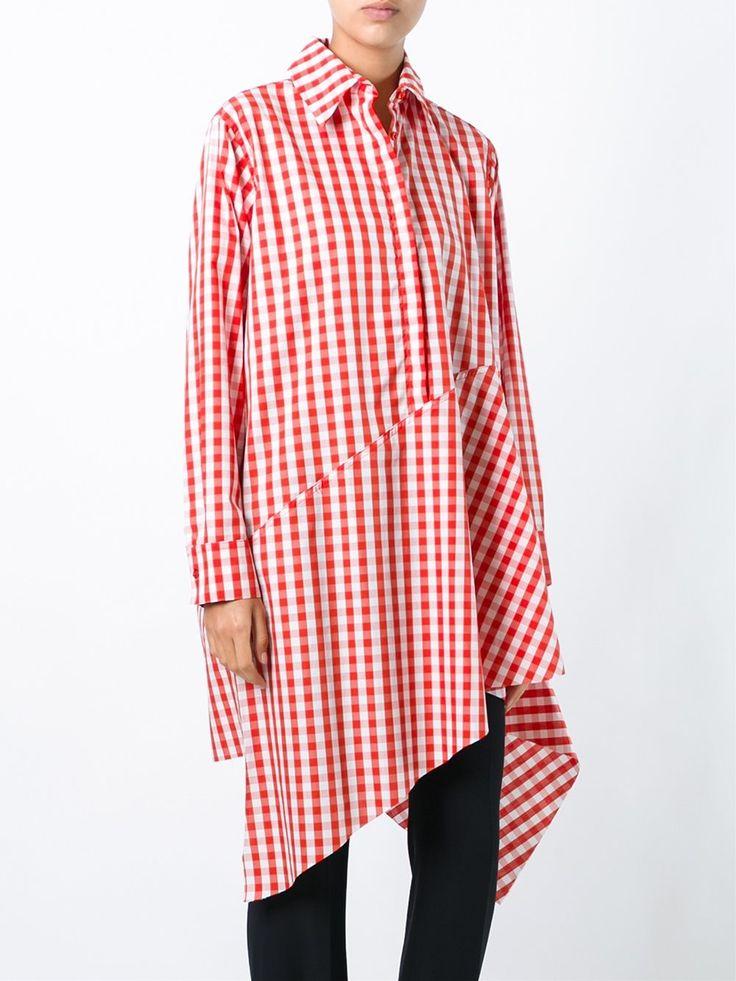 Marques'almeida объемная рубашка в клетку