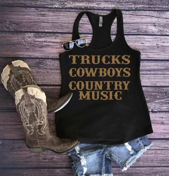 Country tank country music tank country shirt by LeMiApparel