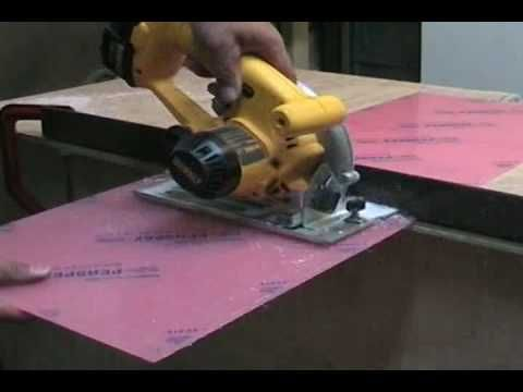 How to Cut #Perspex or #acrylic sheet with a circular or jigsaw
