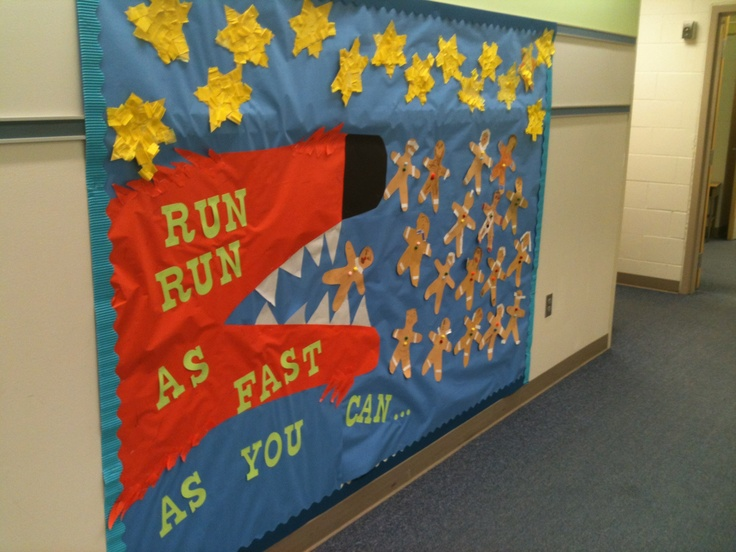 Gingerbread Man Bulletin Board School Stuff Classroom