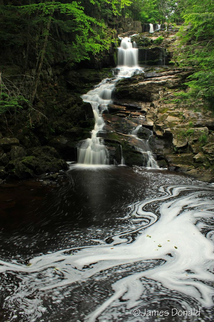Top 5 swimming waterfalls in New-Brunswick (Canada)