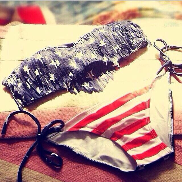 American fringe bikini