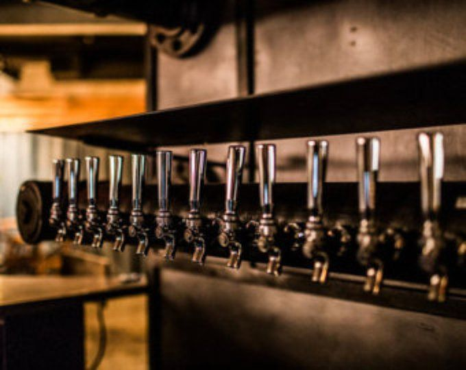 Double Service 20 Tap Custom Draft Beer Tower Black Iron Beer Tower Draft Beer Tower Draft Beer