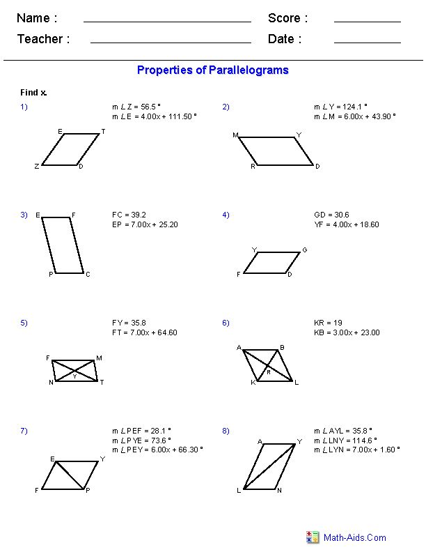 k12mathworksheets using properties of parallel lines worksheets on pinterestworksheets. Black Bedroom Furniture Sets. Home Design Ideas