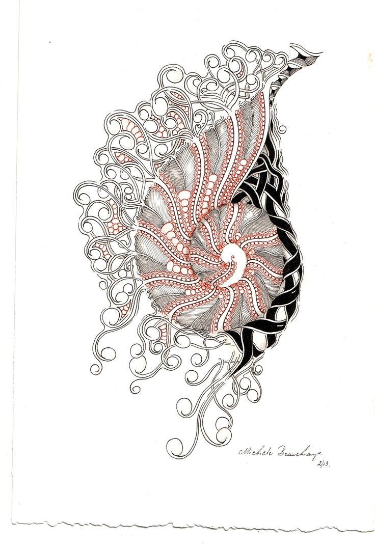 ZENTANGLE Shelly Beauch: Frilled