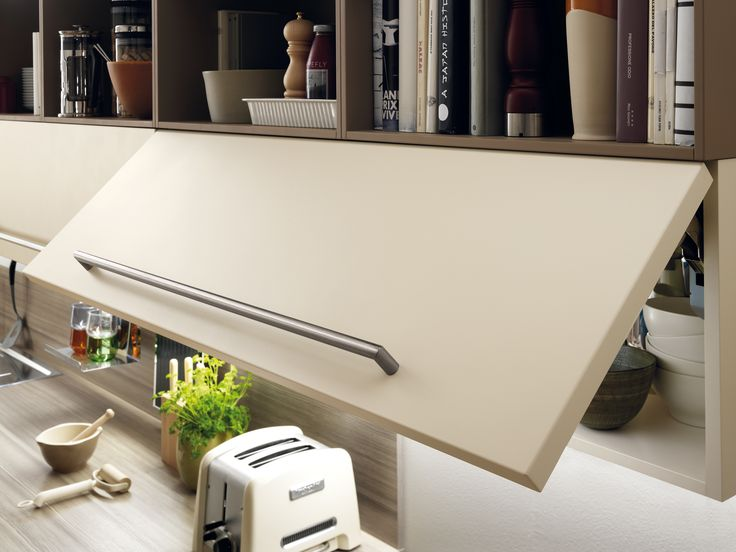 Cucine Scavolini cucine scavolini merate : Feel kitchen by #Scavolini. Porcelain Cream matt lacquered storage ...