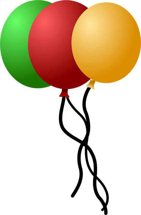 Globos, Celebración, Verde, Rojo, Amarillo, Helio