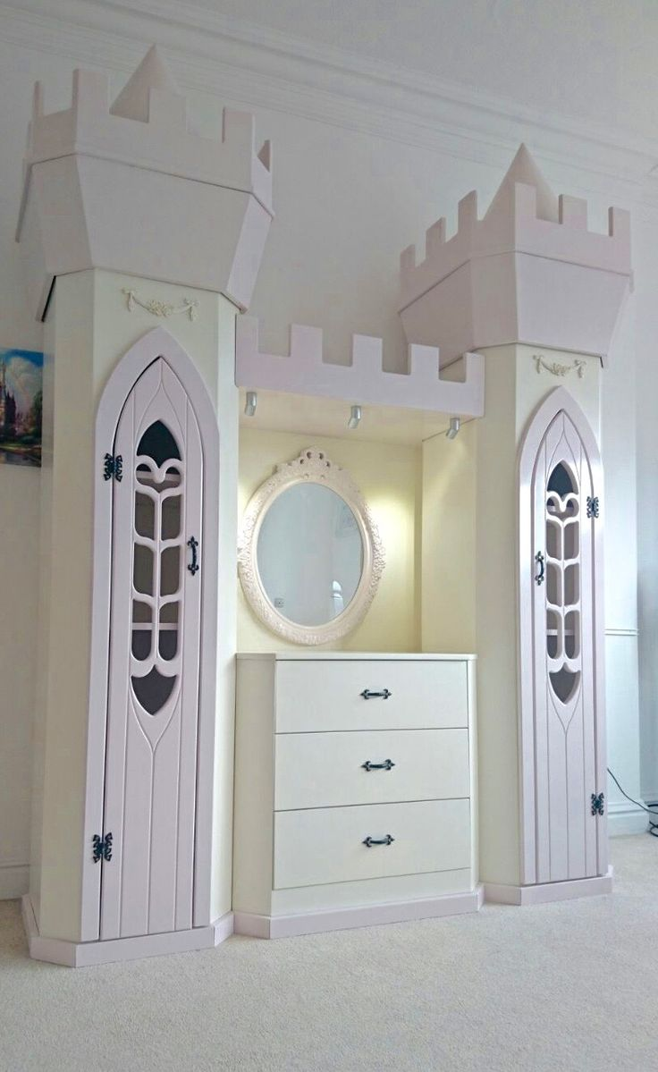 Bedroom furniture for girls castle - Princess Dream Fairytale Themed Wardrobe And Dresser Design By Dreamcraft Furniture