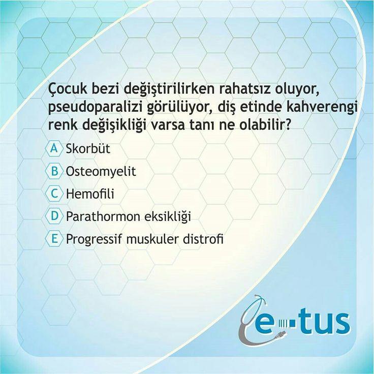 GÜNÜN SORUSU | DOĞRU CEVAP :A 🤓  Takipte Kalın👩⚕️👨⚕️ www.e-tus.com www.e-yandal.com #tipci #stajyer #tipfakultesi #hastane #öğrenci #hasta #sinif #doktor #asistan #ösym #tuscu  #TUS #TUSSoruları #Yandal #TUSSorucevap #Tıp