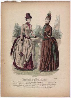 Journal des demoiselles et petit courier des dames réunis Toilettes de la M.elles Thirion [...]