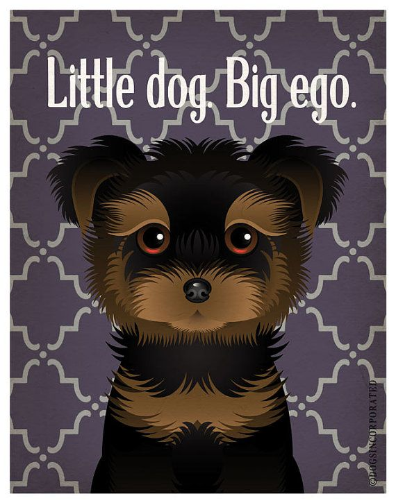 Yorkshire+Terrier+Funny+Dogs+Original+Art+by+DogsIncorporated,+