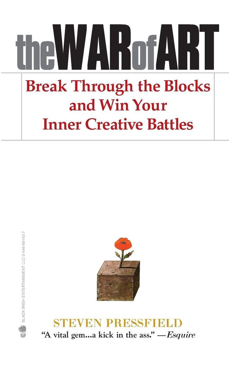The War of Art:  Steven Pressfield http://www.amazon.com/gp/product/1936891026/ref=as_li_tl?ie=UTF8&camp=1789&creative=9325&creativeASIN=1936891026&linkCode=as2&tag=hustleheart-20&linkId=B7ICAUEULPTQSXQ2