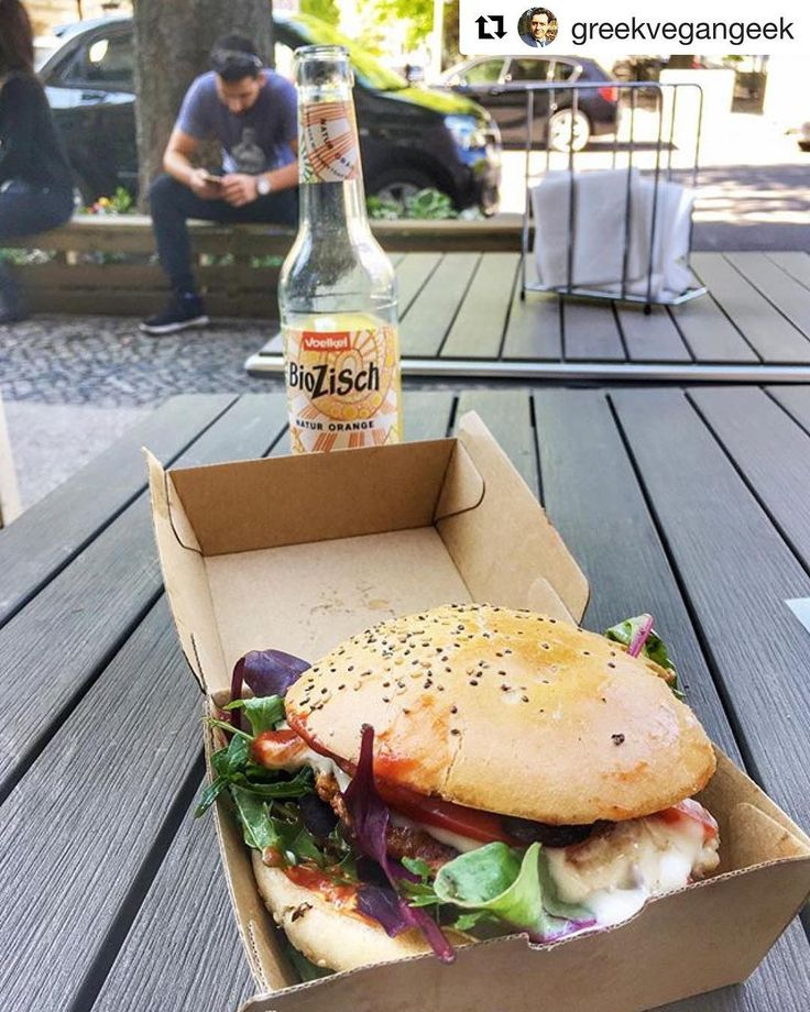 #Repost @greekvegangeek with @repostapp  Best #vegan burger ever!  Served by the master himself @attila_hildmann (on the left) #veganfood #veganburger #veganlife #attilahildmann #berlin #charlottenburg #zisch #biozisch #chickpea #chickpeapatty