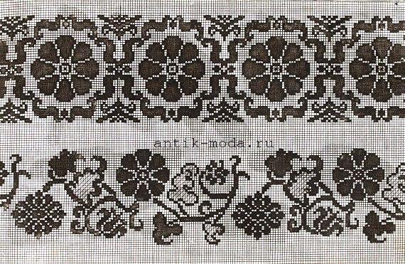 коллекция схем старинной вышивки