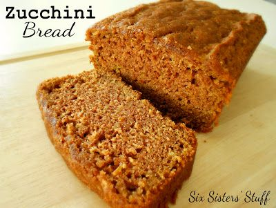 Classic Zucchini Bread- this is a staple in my house every fall! Also freezes really well! SixSistersStuff.com #bread #zucchini #recipe