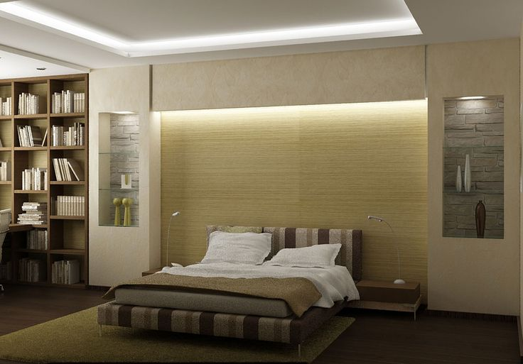 Bedroom design with cove lights #covelighting | Cabinet ...