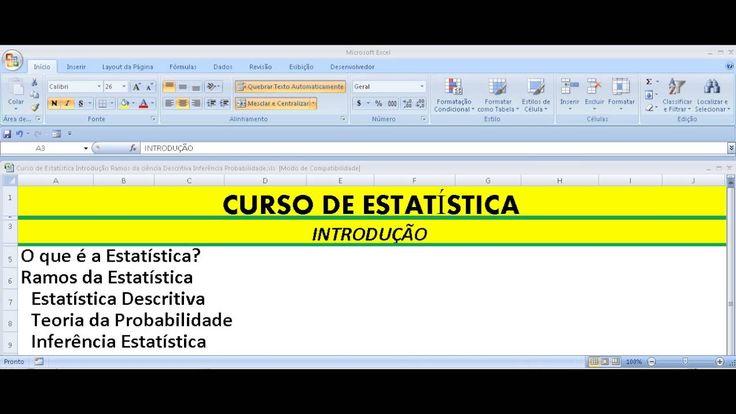 Estatística Introdução à Estatística Descritiva Teoria Probabilidade e I...