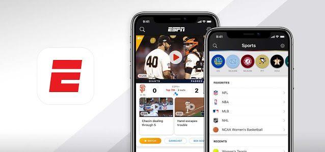 أفضل 8 تطبيقات لمشاهدة البث المباشر للمباريات Espn Disney Plus App