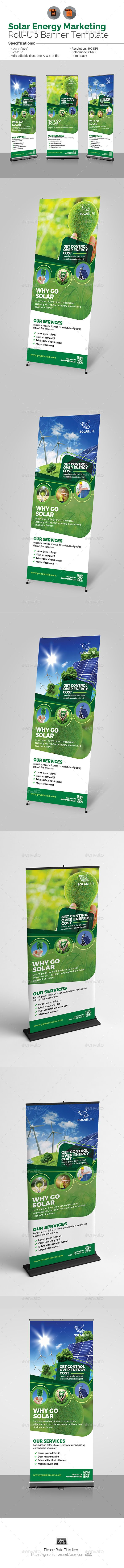 Solar Energy #Roll-Up #Banner - #Signage Print Templates Download here: https://graphicriver.net/item/solar-energy-rollup-banner/19709955?ref=alena994