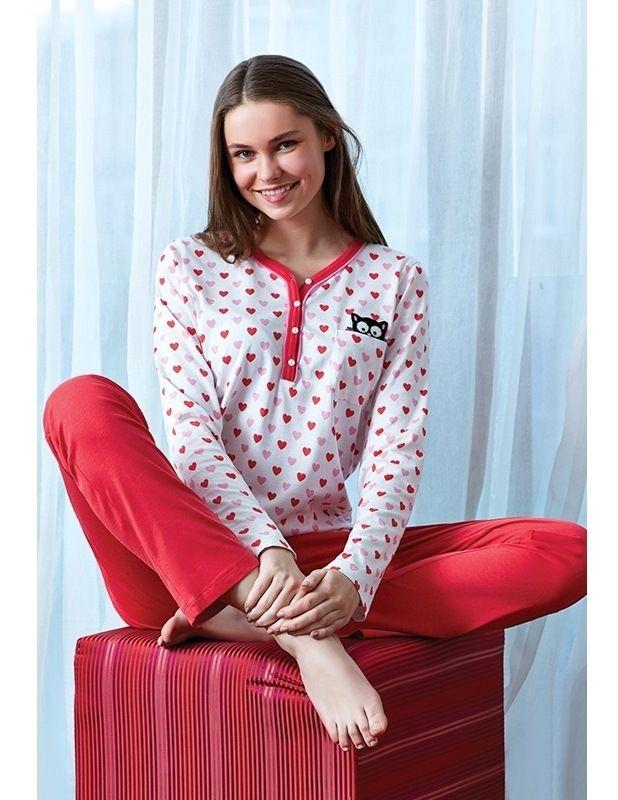 Eros ESK 9350 Bayan Pijama Takım #markhacom #KalpliPijamaTakım #Kalp #YeniYılHediyesi #YeniYılPijamaTakım #YılBaşı #YılBaşıPijamaTakım #YeniYıl  #YeniYılHediyesi #NewYears #Yılbaşı #BayanPijama #BayanGiyim #YeniSezon #Moda #Fashion #Kırmızı #Beyaz #KışTemalı