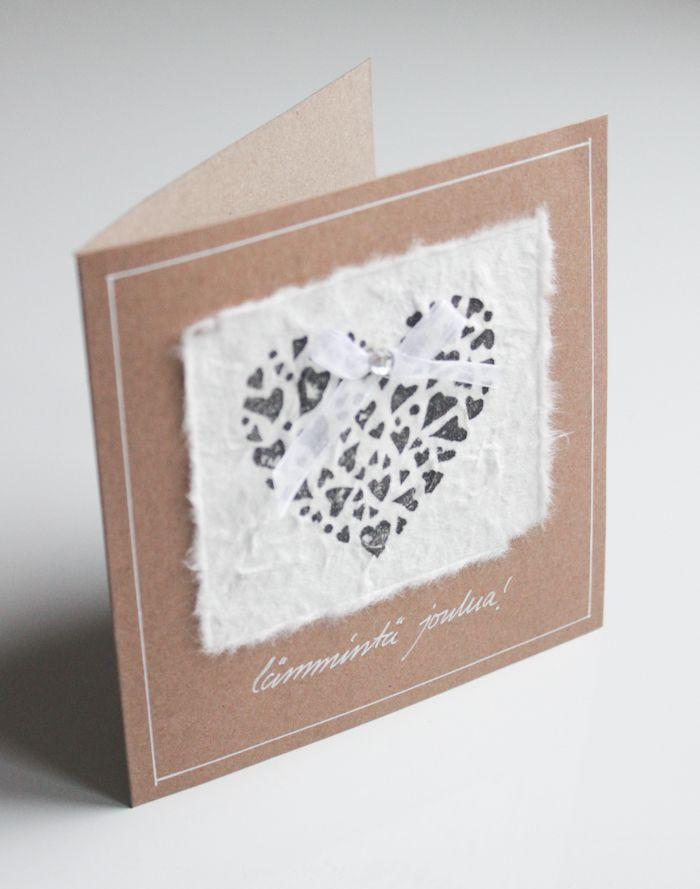 Diy heart Christmas card | Itsetehty joulukortti