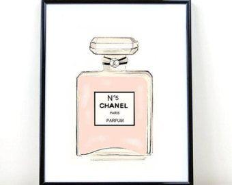 Коко Шанель печати, Chanel Духи, печати, Коко Шанель, мода печати, Цифровая Загрузка, спальней печати