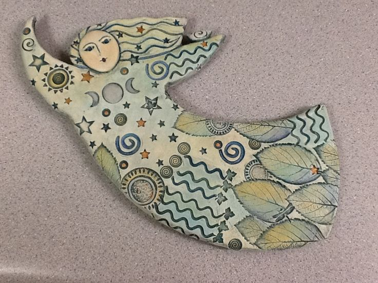 new moon dancer clay figure by Sue Davis