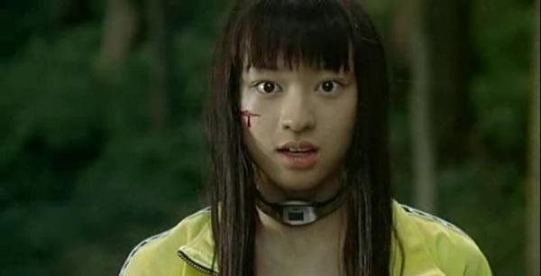 Chiaki Kuriyama as Takako Chigusa in Battle Royale