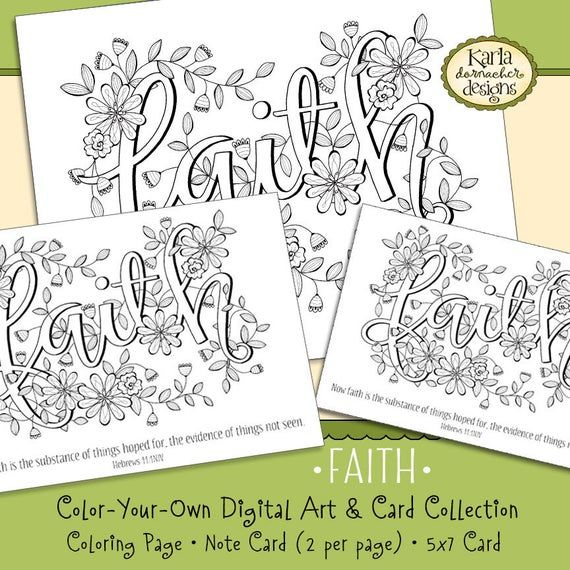 Faith Word Of The Year 52 Words Hebrews 11 Coloring Page