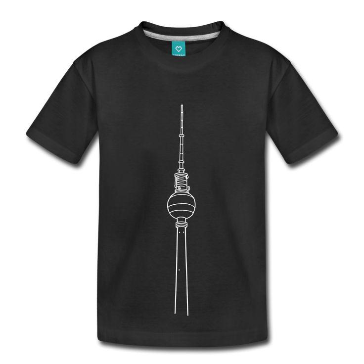 Fernsehturm Berlin Kinder Premium T-Shirt - Schwarz