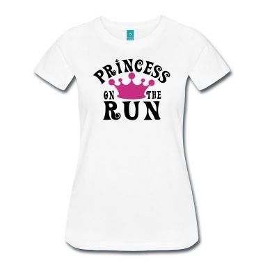 Funny running shirt for women: Princess on the run! Your quote at the function shirt: marathon, running, half marathon, event, race, fitness, woman, diet, sport, sports, training, motivation, diet