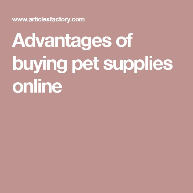 Advantages of buying pet supplies online