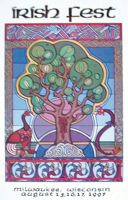 Milwaukee Irish Fest 1997 Poster Design
