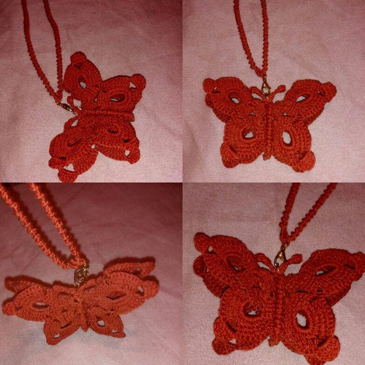 #Farfalla_ad_uncinetto @casa_della_fantasia @facebook @uncinetto @crochet @passione_per_uncinetto #istagram #chrochetting #like #likeformy @handmade