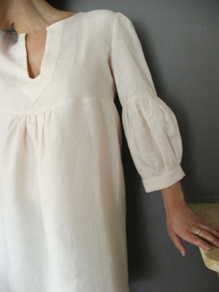 Etsy Transaction - Dress or Tunic - My Garden -powder pink linen color