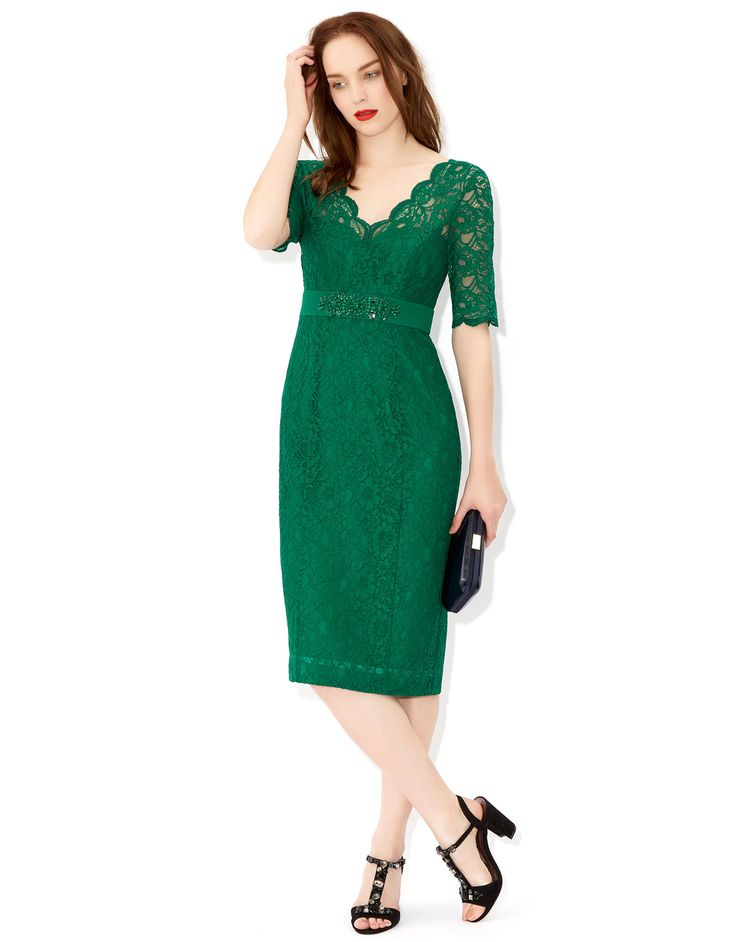 Layla Lace Dress Green Monsoon