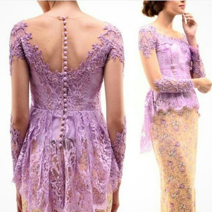 "These Reference of soft purple peplum kebaya brocade combined with batik and 3D details can be made as your request . . Contact person : 1st Hand Dress Maker ""Kiky Vinola"" the label BBM : 54AAD185 Whtsapp: 081511231375 Line:  @run7199r (ketik @ nya ya) SEMARANG  #kebayakikyvinola #dresses #qualityfabrics #eveningdress #kebaya #inspirasikebaya #gaunpesta #gaunkebaya  #kebaya #kebayawisuda #prewed #kebayahijab #kebayagaun #gaun #dress #kebayaonline #kebayainspiration #kebayaterbaru…"