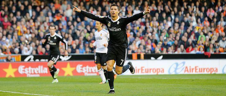 Cristiano has hit the mark in his last 4 La Liga outings against Valencia