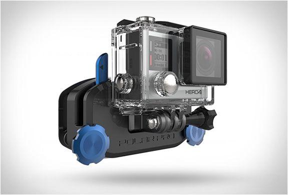 GOPRO STRAPMOUNT  A empresa Pro Polar é especializada na fabricação de acessórios para câmeras GoPro, o seu mais recente produto é o GoPro StrapMount, um dispositivo engenhoso para as filmagens de mãos-livres que trava com segurança em qualquer lugar.