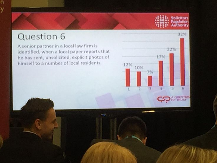 Delegates at our Conservative Party Conference #questionoftrust event debating what to do if a senior partner sends explicit photos - a very wide range of views #solicitors #legal #professional #standards