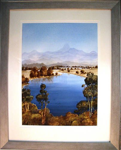 Australian Artist James Fearnley s  W colour   Mt Warning & The Tweed River