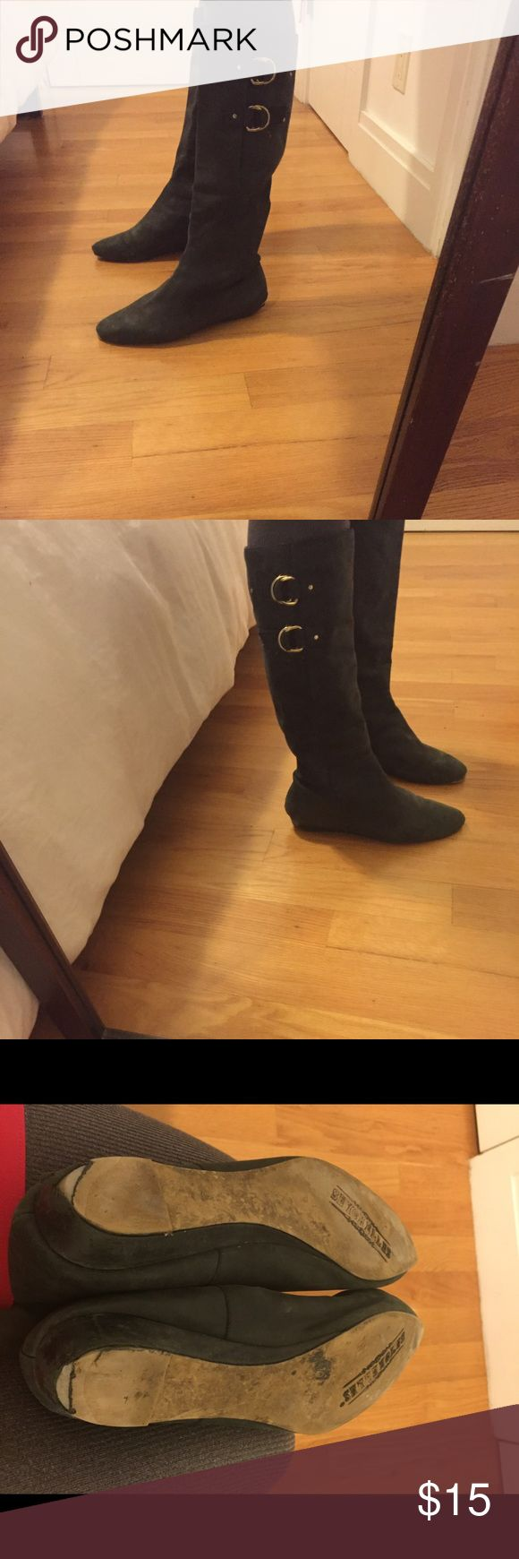 Seychelles boots These black leather boots have seen many Mike's but there are still a few left. There is a small tear in left front. Seychelles Shoes Combat & Moto Boots