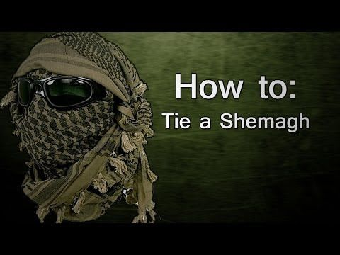 How to: Tie a Shemagh Like a SEAL - YouTube